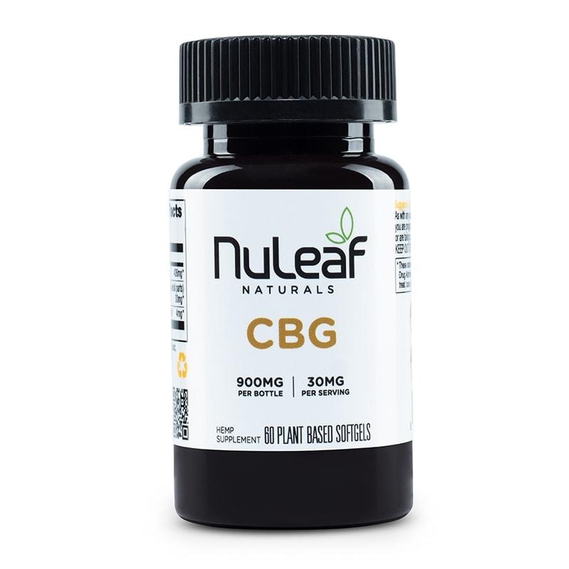 NuLeaf Naturals, CBG Capsules, Full Spectrum, 60 Softgels, 900mg CBG 1