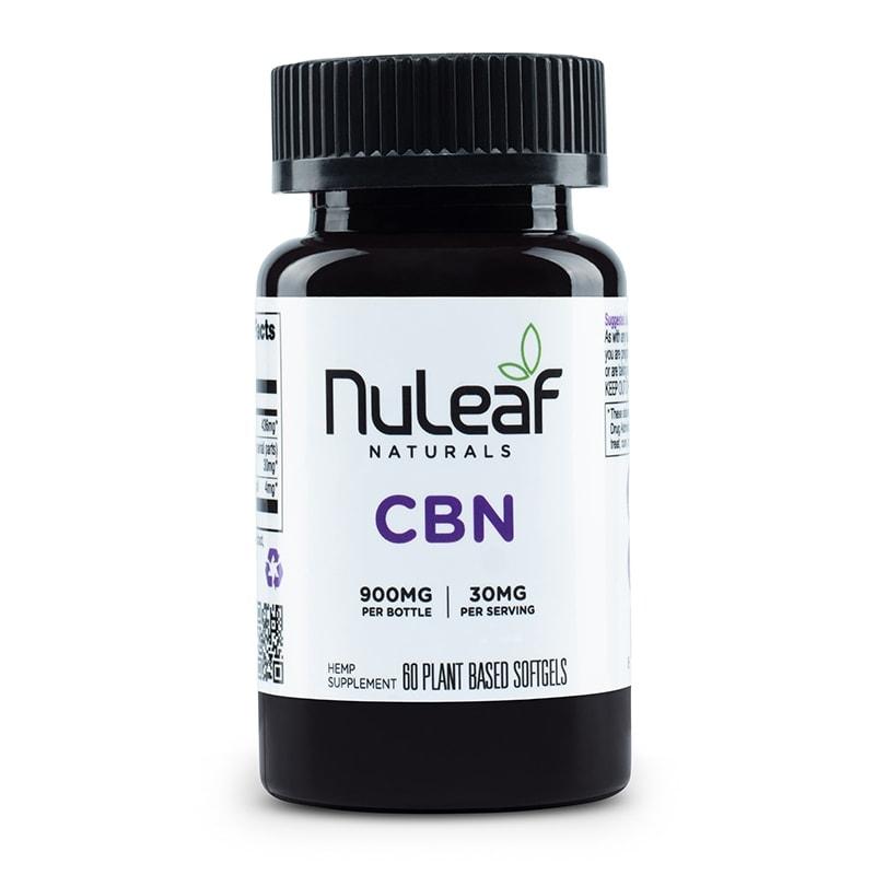 NuLeaf Naturals, CBN Capsules, Full Spectrum, 60 Softgels, 900mg CBN 1