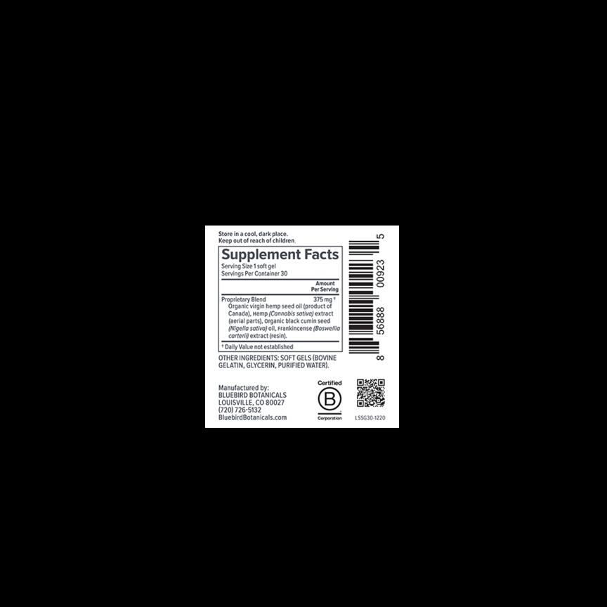 Bluebird Botanicals, Signature CBD Oil Softgels, Full Spectrum, 30ct, 900mg CBD 4