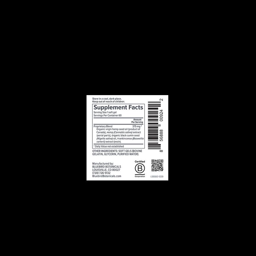 Bluebird Botanicals, Signature CBD Oil Softgels, Full Spectrum, 60ct, 900mg CBD 4