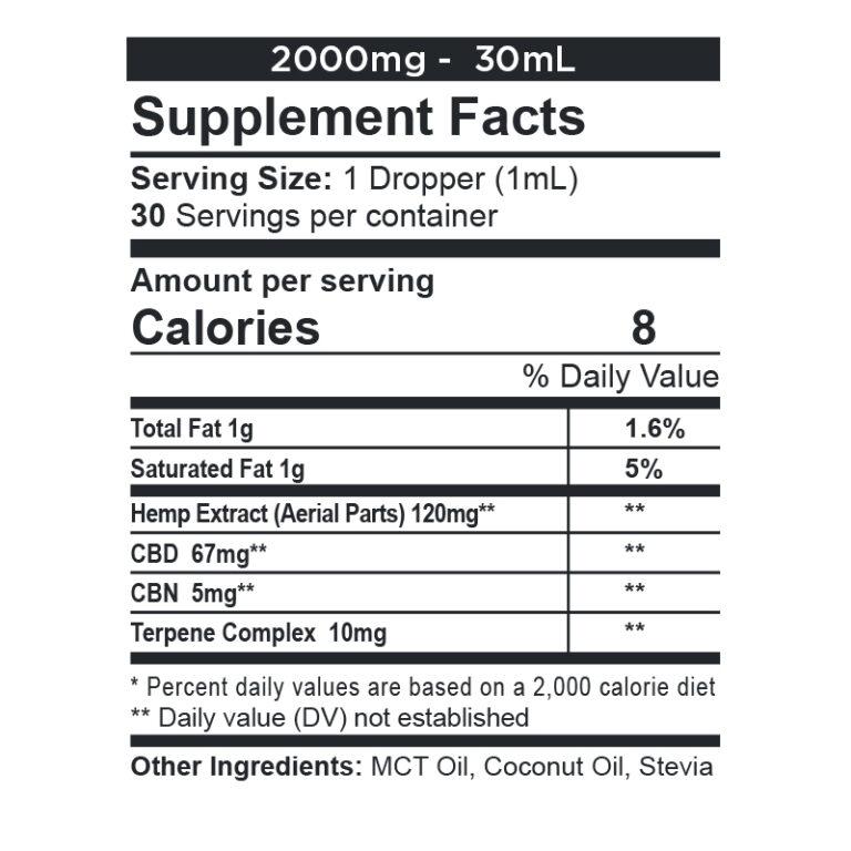CBDfx, CBD + CBN Oil Calming Tincture, Full Spectrum, 1oz, 150mg CBN + 2000mg CBD 2