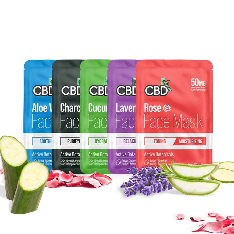 CBDfx, CBD Face Mask, Aloe Vera : Tightening, Broad Spectrum THC-Free, 50mg CBD 2
