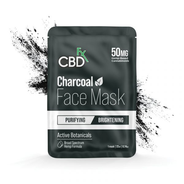 CBDfx, CBD Face Mask, Charcoal / Brightening, Broad Spectrum THC-Free, 50mg CBD