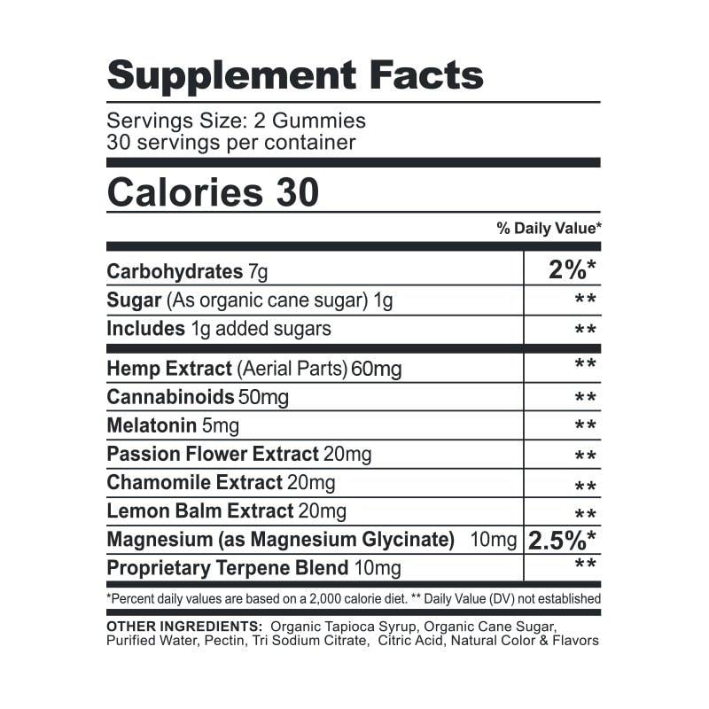 CBDfx, CBD Gummies with Melatonin For Sleep, Broad Spectrum THC-Free, 60ct, 1500mg CBD 2