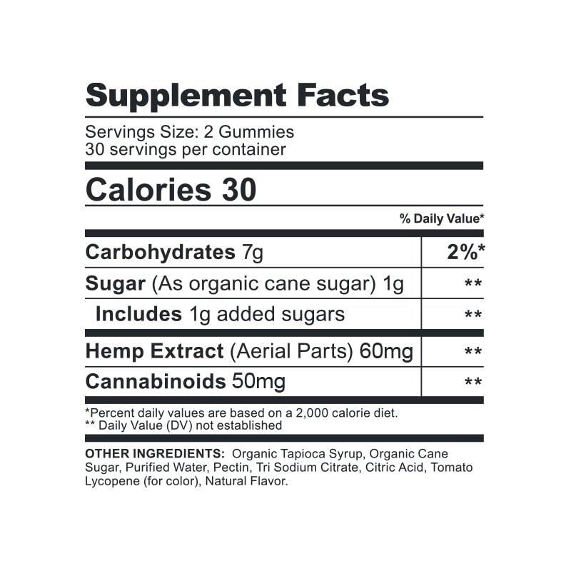 CBDfx, CBD Gummy Bears, Broad Spectrum THC-Free, Mixed Berries, 60ct, 1500mg CBD 2
