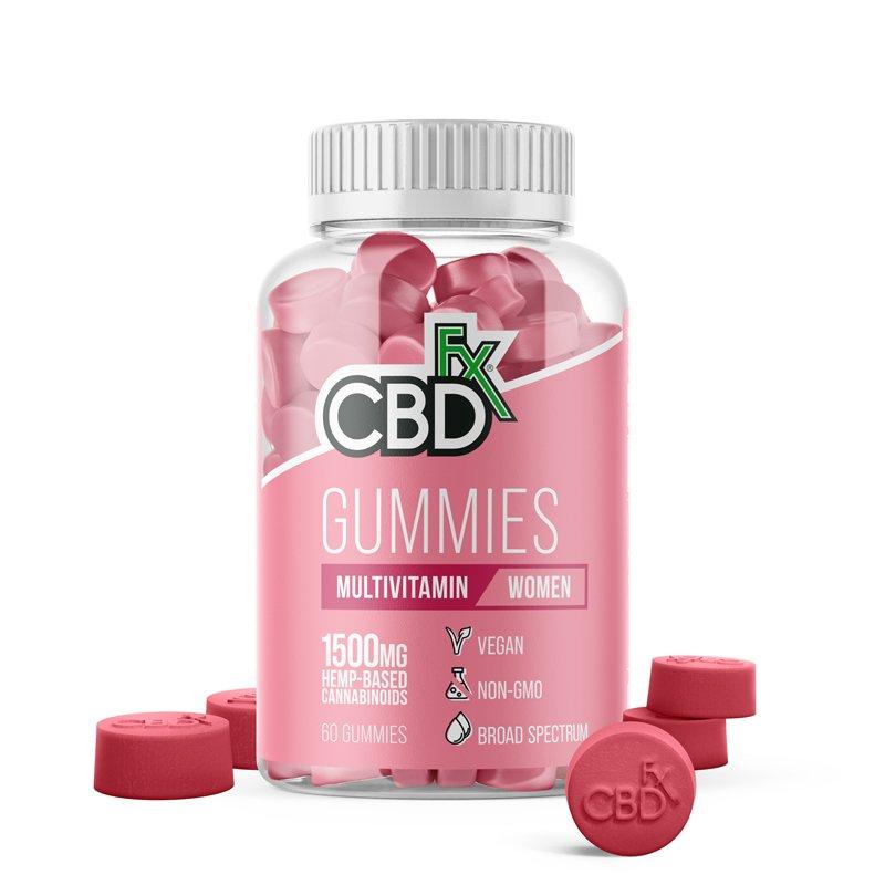 CBDfx, Multivitamin CBD Gummies For Women, Broad Spectrum THC-Free, 60ct, 1500mg CBD 1