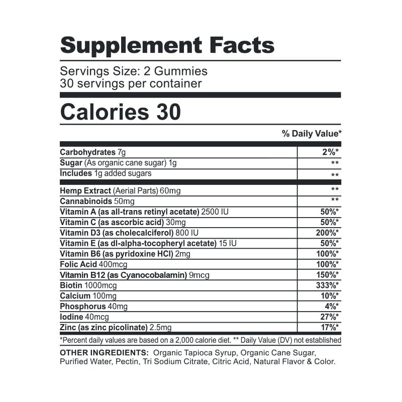 CBDfx, Multivitamin CBD Gummies For Women, Broad Spectrum THC-Free, 60ct, 1500mg CBD 2