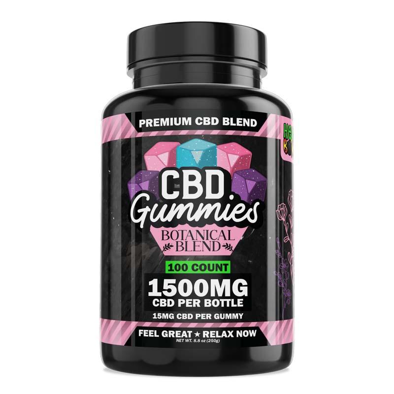 Hemp Bombs, CBD Gummies Botanical Blend, 100ct, 1500mg CBD 1