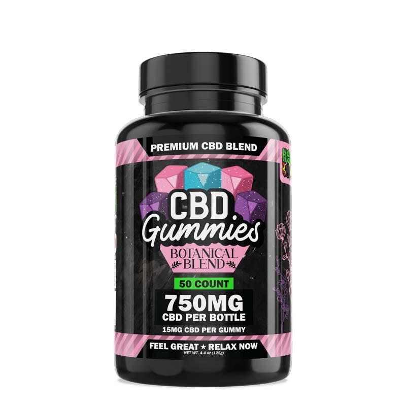 Hemp Bombs, CBD Gummies Botanical Blend, 50ct, 750mg CBD 1