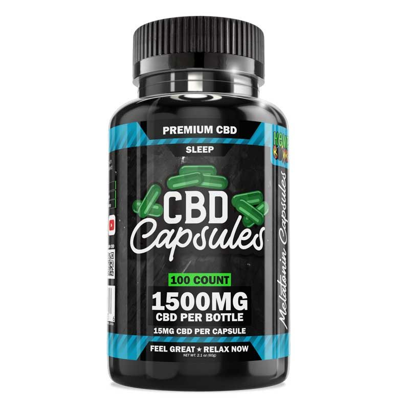 Hemp Bombs, CBD Sleep Capsules with Melatonin, Full Spectrum, 100ct, 1500mg CBD 1