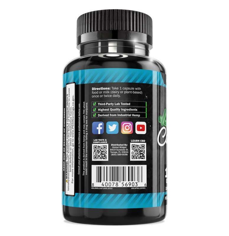Hemp Bombs, CBD Sleep Capsules with Melatonin, Full Spectrum, 100ct, 1500mg CBD 2