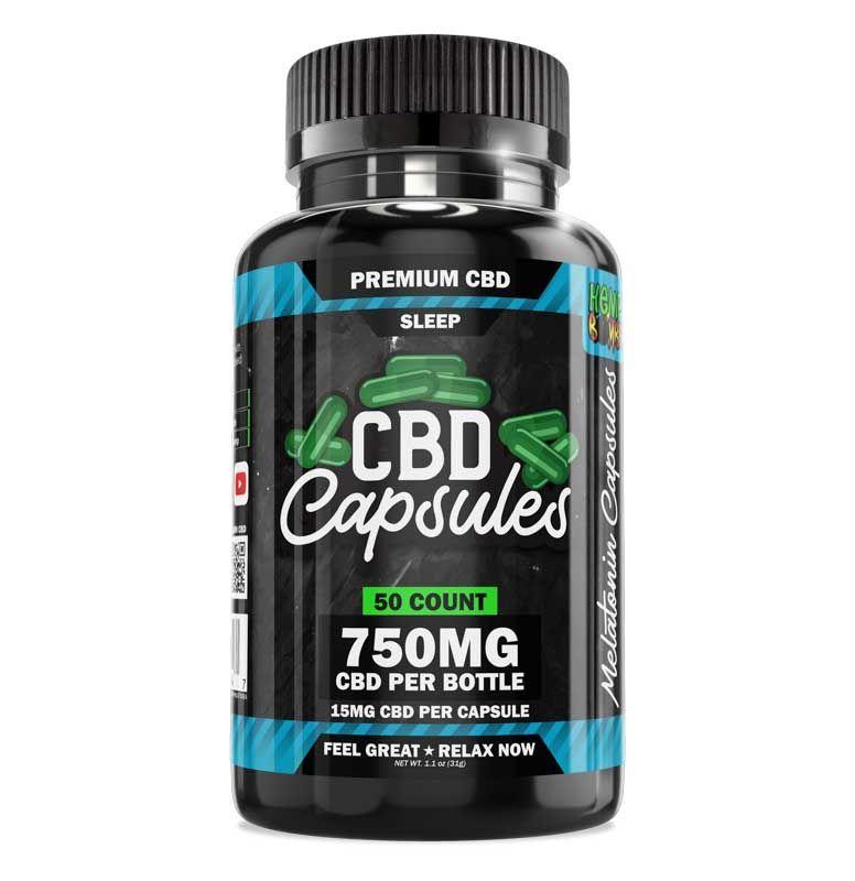 Hemp Bombs, CBD Sleep Capsules with Melatonin, Full Spectrum, 50ct, 750mg CBD 1
