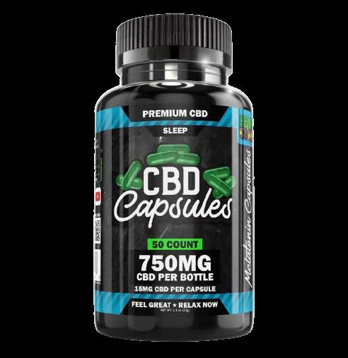 Hemp Bombs, CBD Sleep Capsules with Melatonin, Full Spectrum, 50ct, 750mg CBD