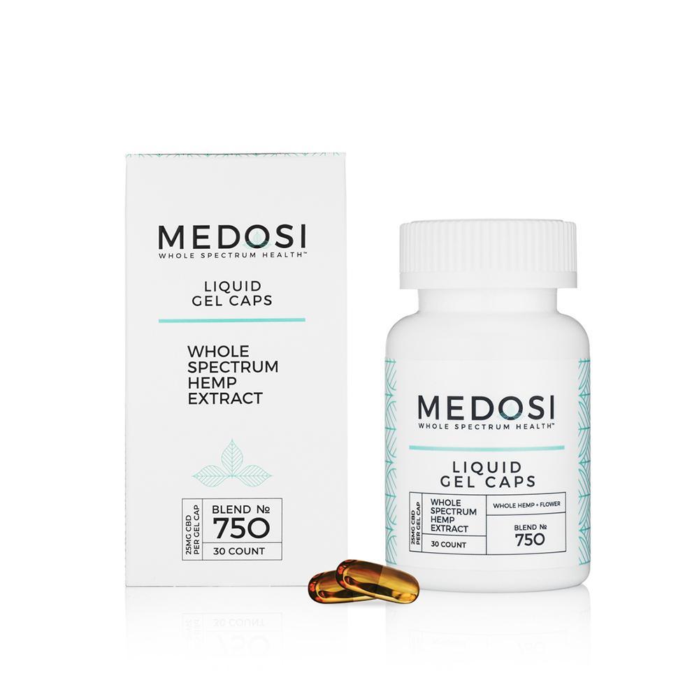 Medosi, CBD Liquid Gel Caps, Full Spectrum, 30ct, 750mg CBD 1