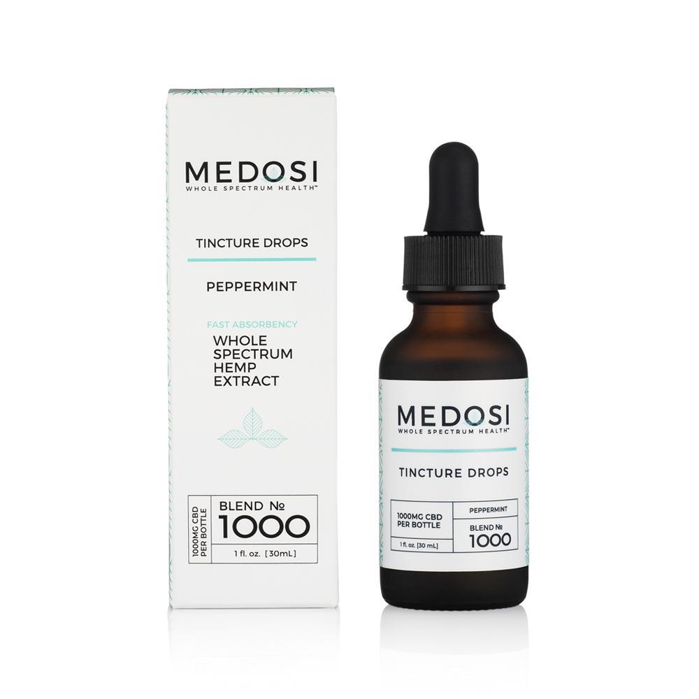 Medosi, CBD Oil Tincture, Full Spectrum, Peppermint, 1oz, 1000mg CBD 1