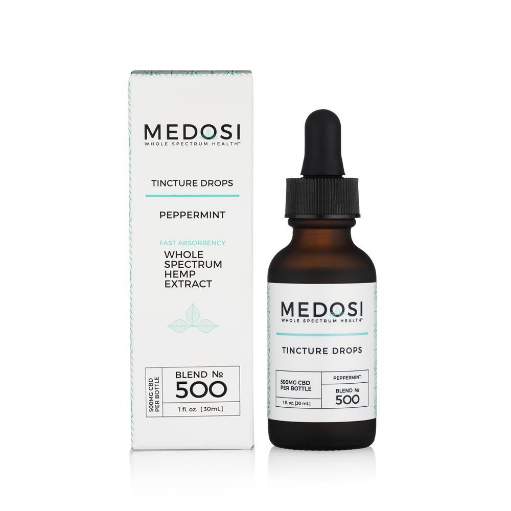 Medosi, CBD Oil Tincture, Full Spectrum, Peppermint, 1oz, 500mg CBD 1