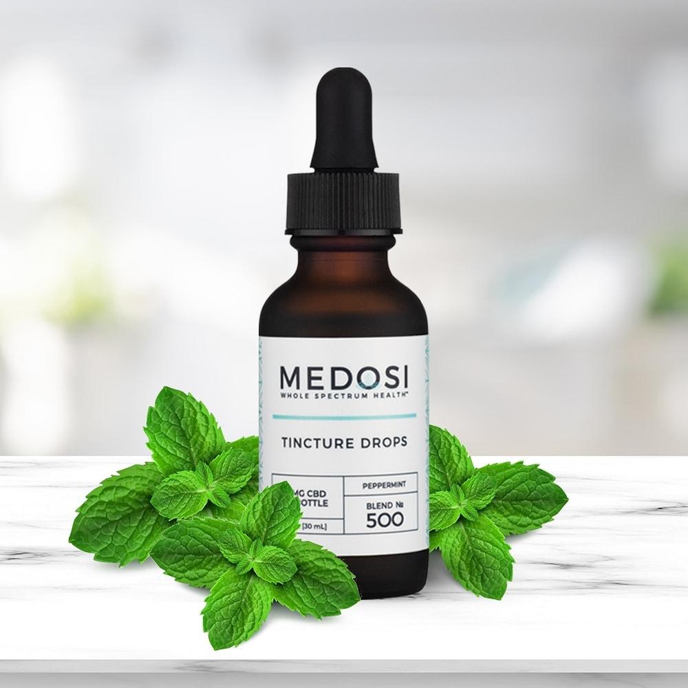 Medosi, CBD Oil Tincture, Full Spectrum, Peppermint, 1oz, 500mg CBD 4