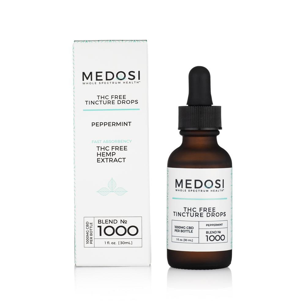 Medosi, CBD Oil Tincture, THC-Free, Peppermint, 1oz, 1000mg CBD 1