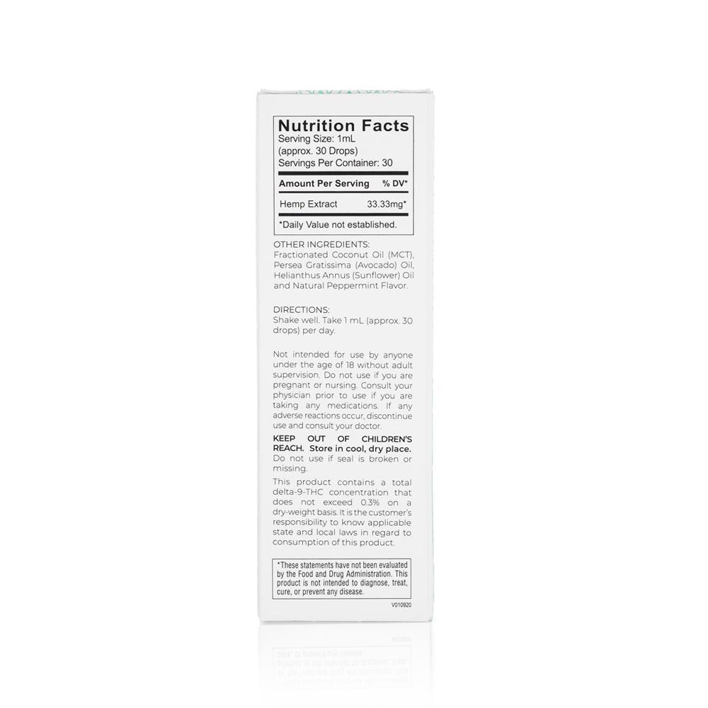 Medosi, CBD Oil Tincture, THC-Free, Peppermint, 1oz, 1000mg CBD 3