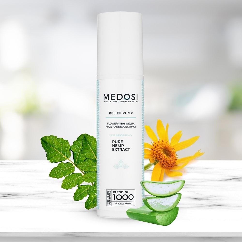 Medosi, CBD Relief Cream, THC-Free, 3.4oz, 1000mg CBD 4