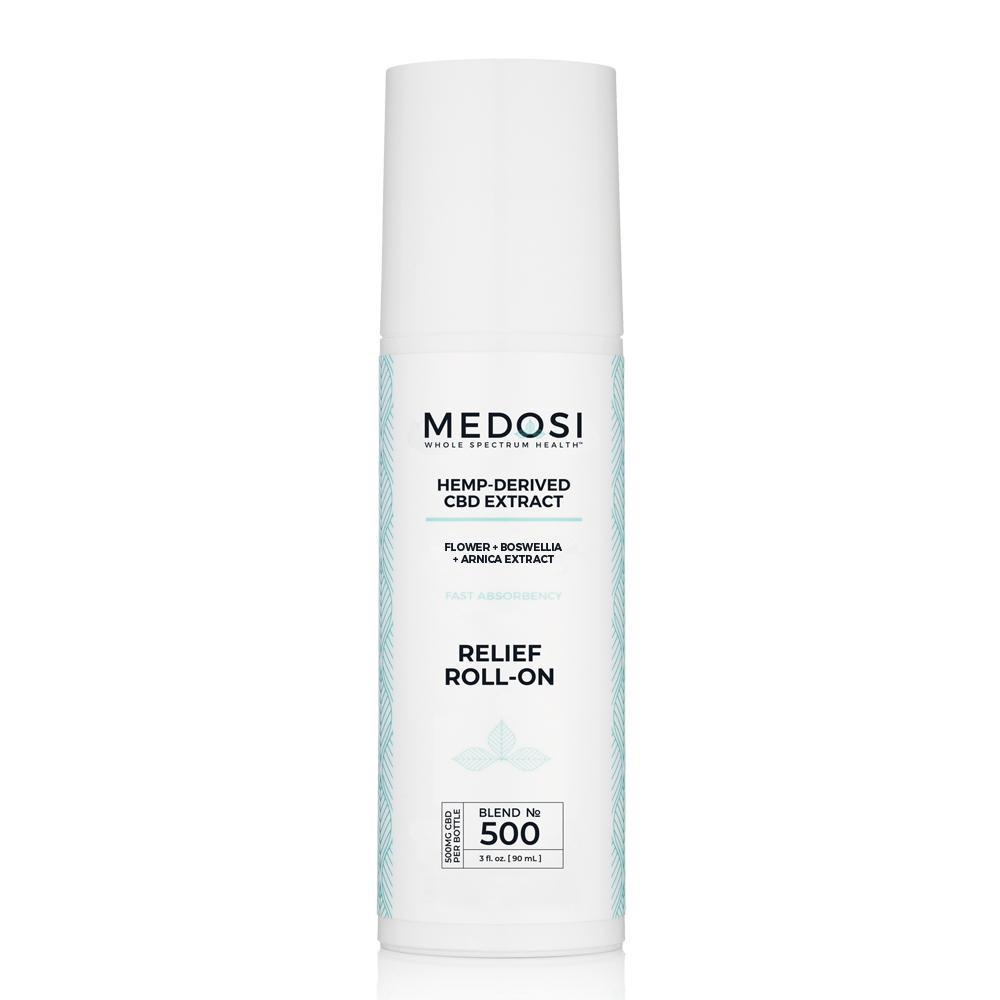 Medosi, CBD Relief Roll-On Gel, THC-Free, 3oz, 500mg CBD 1