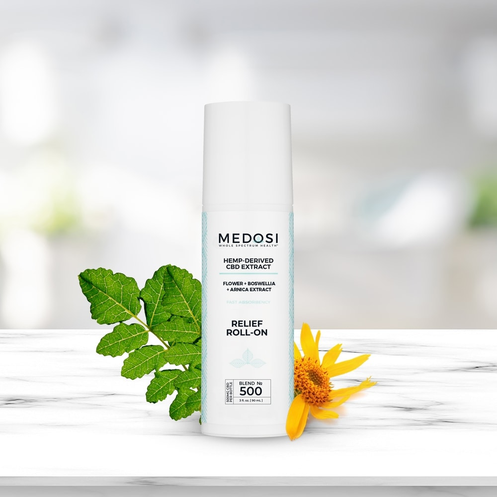 Medosi, CBD Relief Roll-On Gel, THC-Free, 3oz, 500mg CBD 4