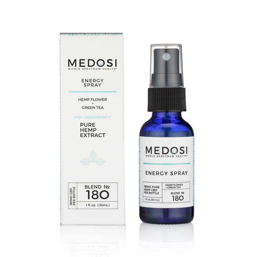 Medosi, Energy Spray, THC-Free, 1oz, 180mg CBD 1