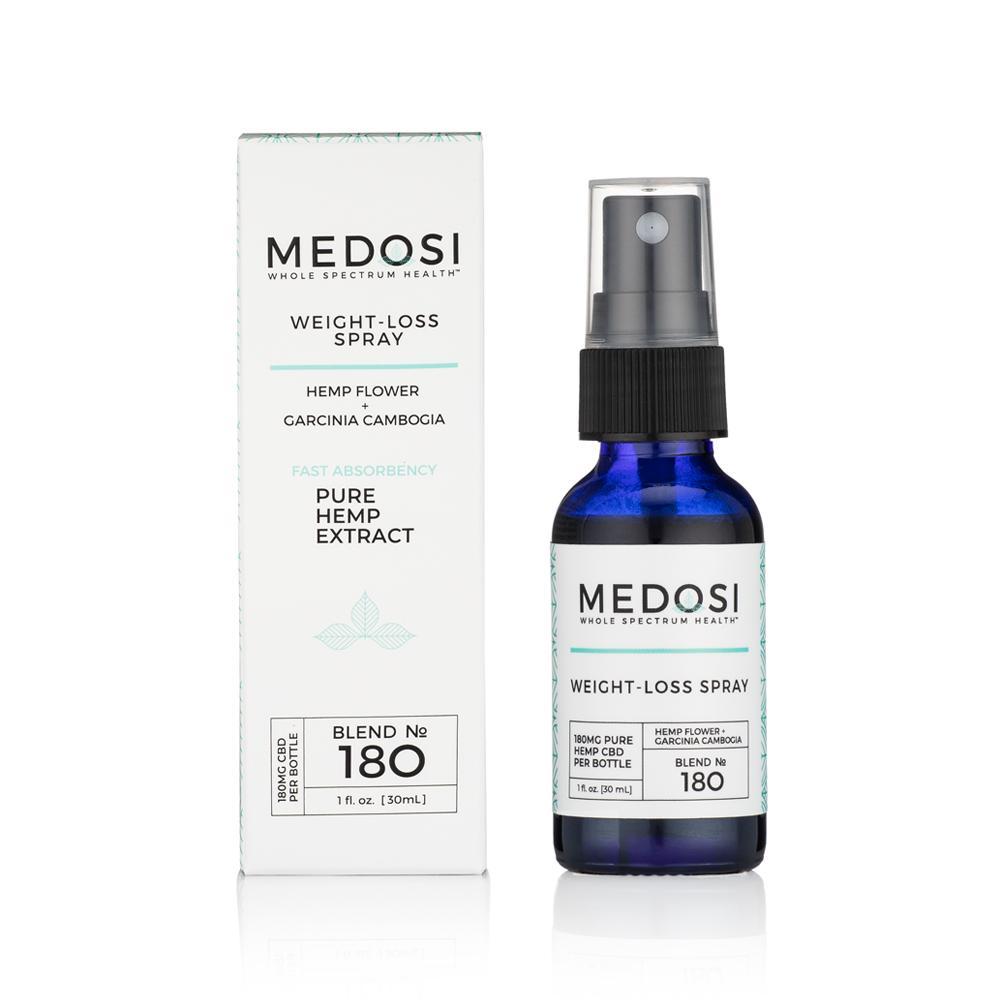 Medosi, Weight-Loss Spray, THC-Free, 1oz, 180mg CBD 1