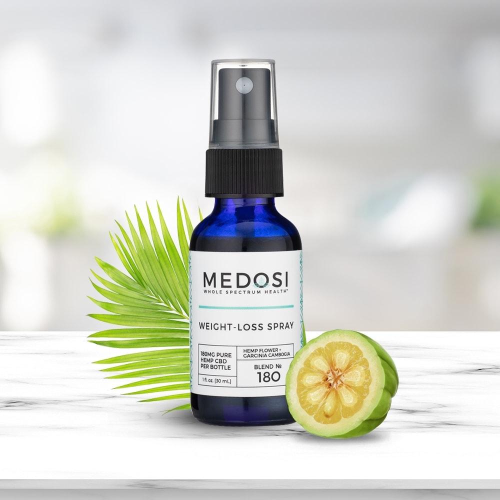 Medosi, Weight-Loss Spray, THC-Free, 1oz, 180mg CBD 4