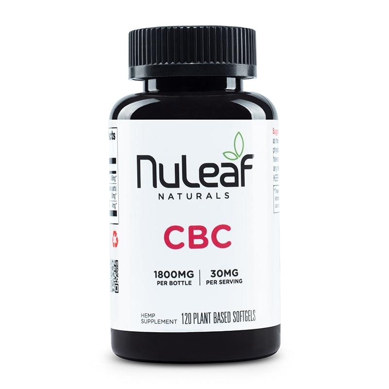 NuLeaf Naturals, CBC Capsules, Full Spectrum, 120 Softgels, 1800mg CBC 1