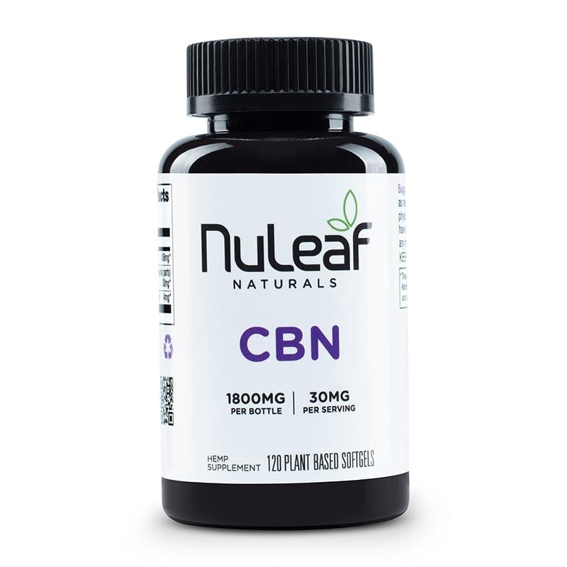 NuLeaf Naturals, CBN Capsules, Full Spectrum, 120 Softgels, 1800mg CBN 1