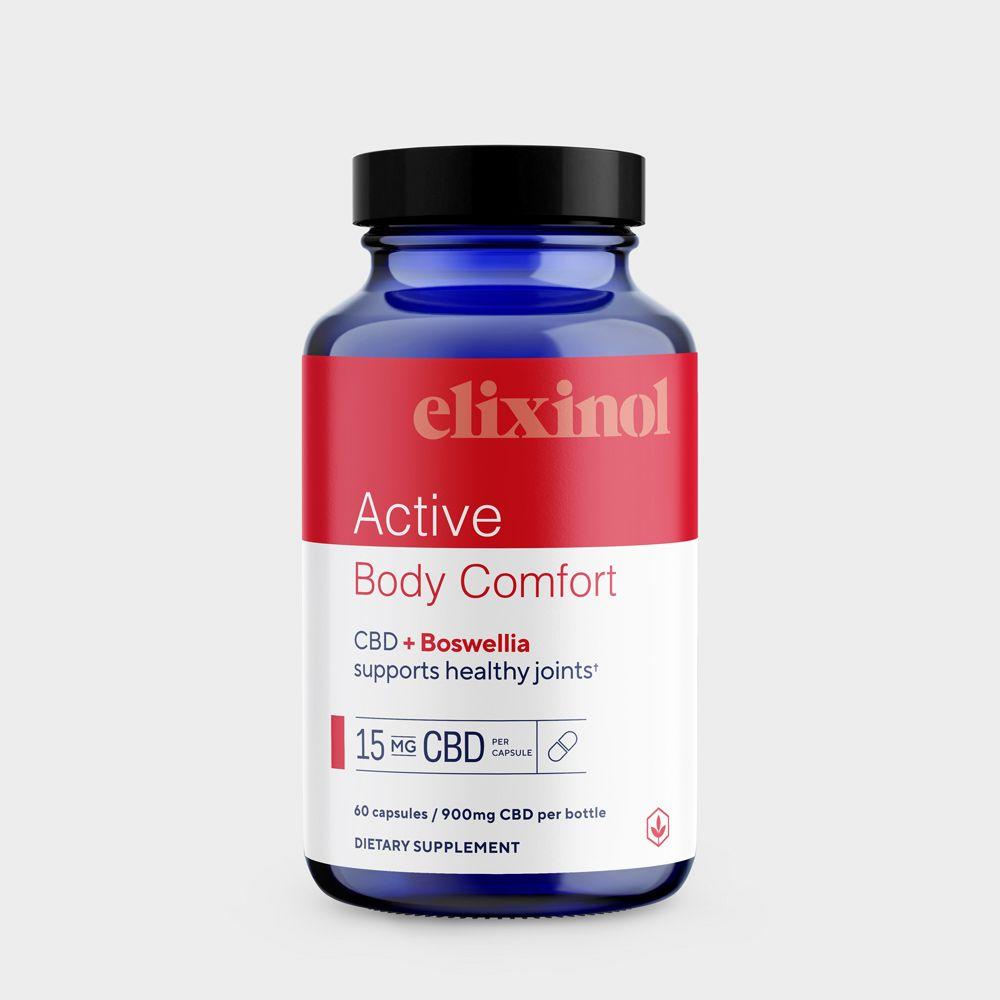 Elixinol, Active Body Comfort CBD Capsules, Full Spectrum, Boswellia, 60ct, 900mg CBD 2