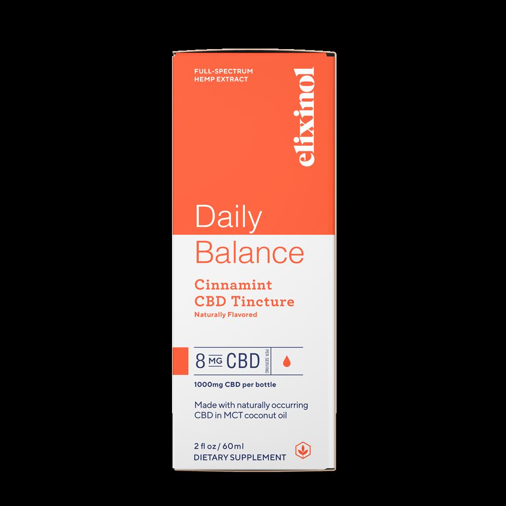 Elixinol, Daily Balance CBD Tincture, Full Spectrum, Cinnamint, 2oz, 1000mg CBD 3