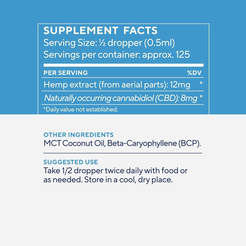 Elixinol, Daily Balance CBD Tincture, Full Spectrum, Natural Flavor, 2oz, 1000mg CBD 3