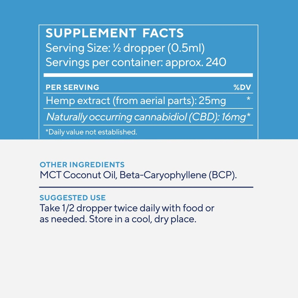 Elixinol, Daily Balance CBD Tincture, Full Spectrum, Natural Flavor, 4oz, 4000mg CBD 4