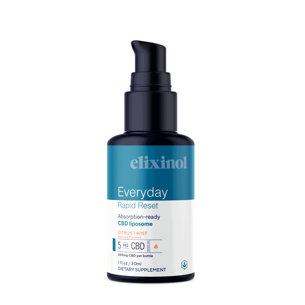 Elixinol, Everyday Rapid Reset CBD Liposome, Broad Spectrum THC-Free, Citrus Twist, 1oz, 300mg CBD 2