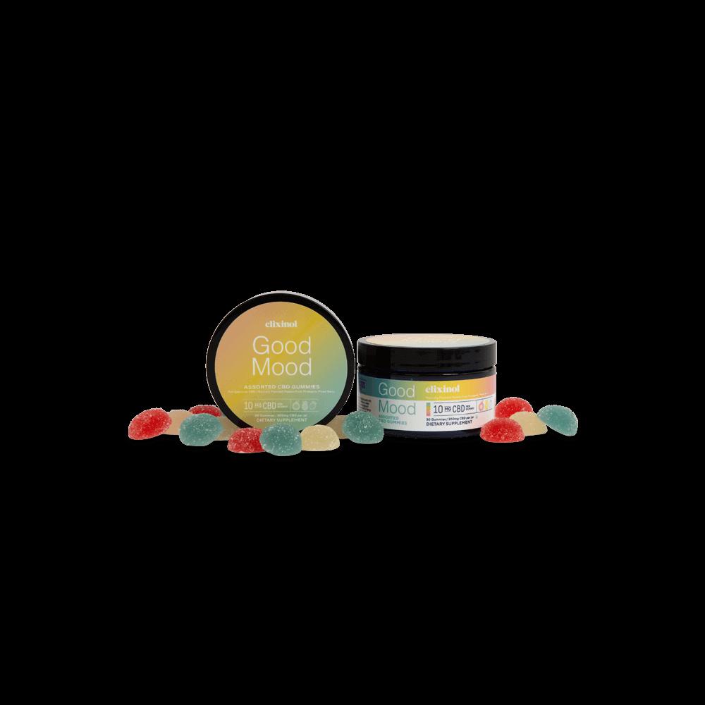 Elixinol, Good Mood CBD Gummies, Full Spectrum, Assorted, 30ct, 300mg CBD 3