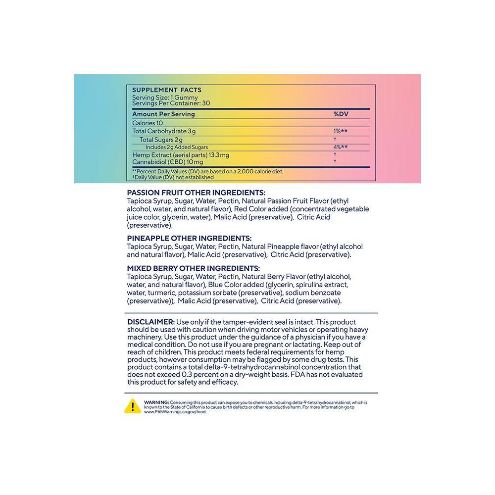 Elixinol, Good Mood CBD Gummies, Full Spectrum, Assorted, 30ct, 300mg CBD 4