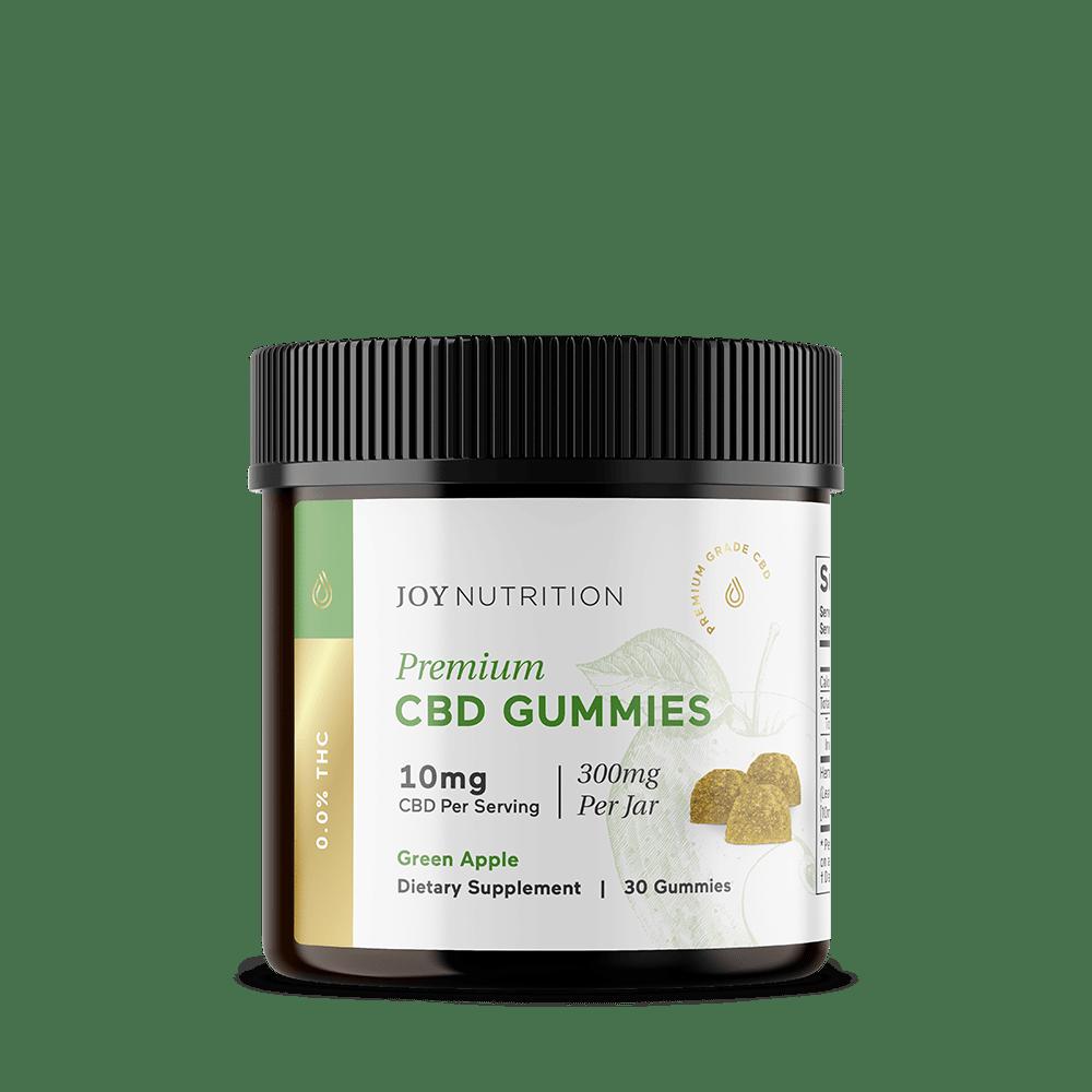 Joy Organics, CBD Gummies, Green Apple, Broad Spectrum THC-Free, 30ct, 300mg CBD 1