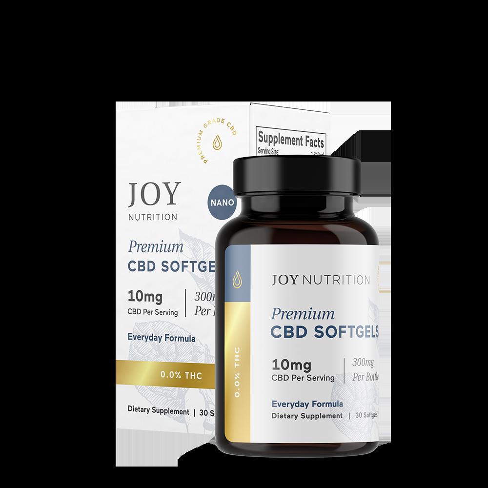 Joy Organics, CBD Softgels, Broad Spectrum THC-Free, 30ct, 300mg CBD 1