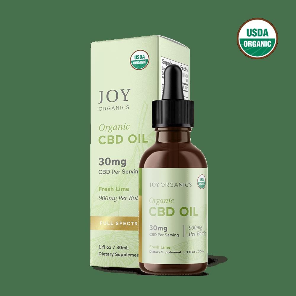 Joy Organics, Fresh Lime Organic CBD Tincture, Full Spectrum, 1oz, 900mg CBD 1