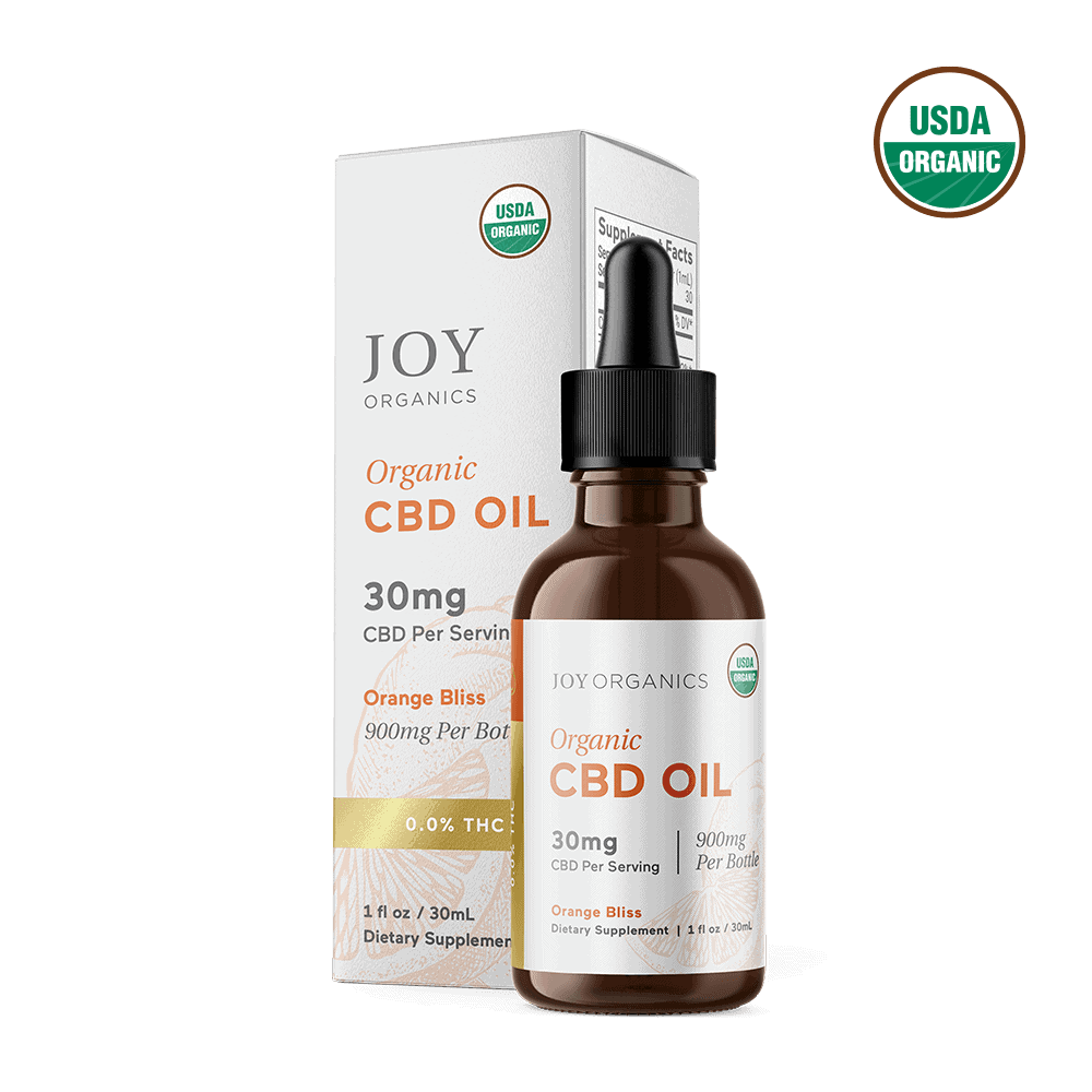 Joy Organics, Orange Bliss Organic CBD Tincture, Broad Spectrum THC-Free, 1oz, 900mg CBD 1