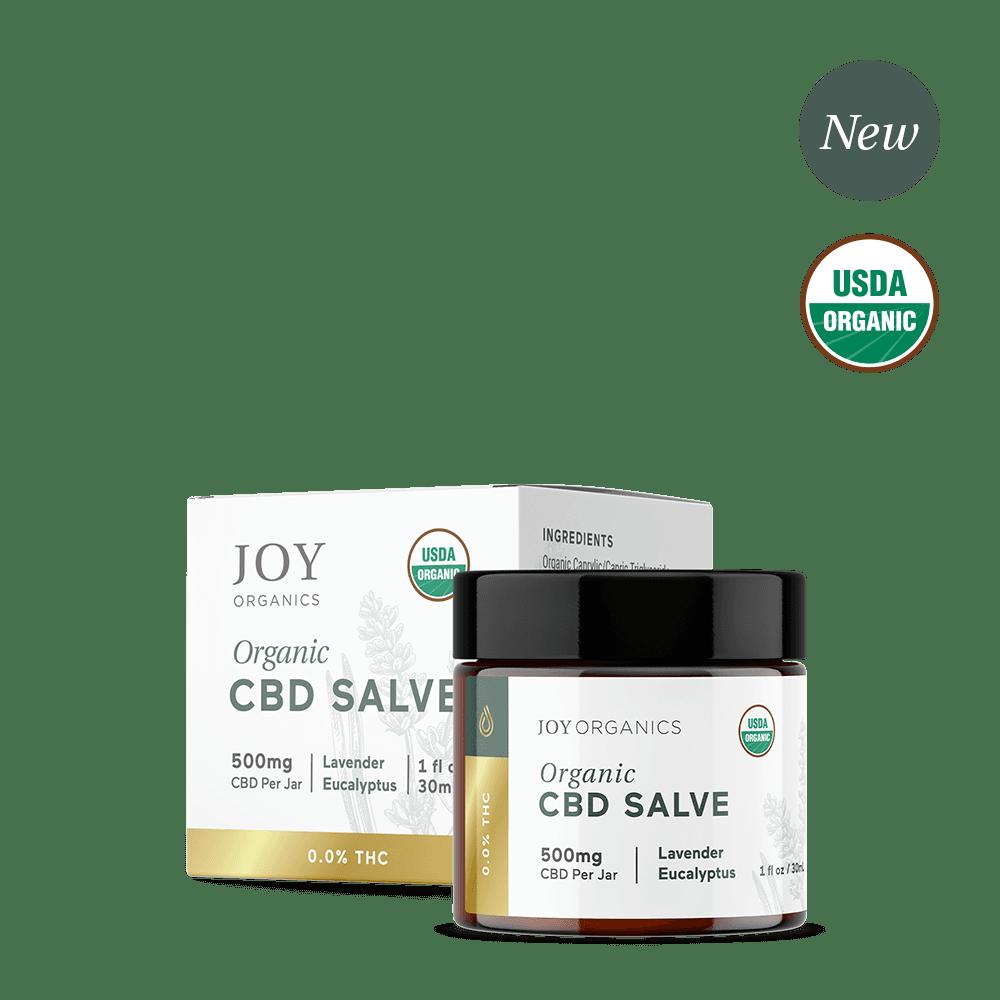 Joy Organics, Organic CBD Salve, Broad Spectrum THC-Free, 1oz, 500mg CBD 1
