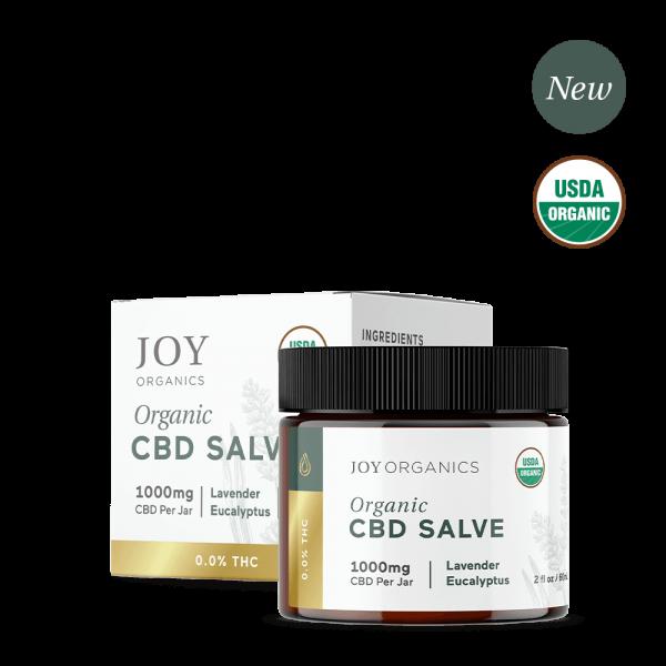 Joy Organics, Organic CBD Salve, Broad Spectrum THC-Free, 2oz, 1000mg CBD