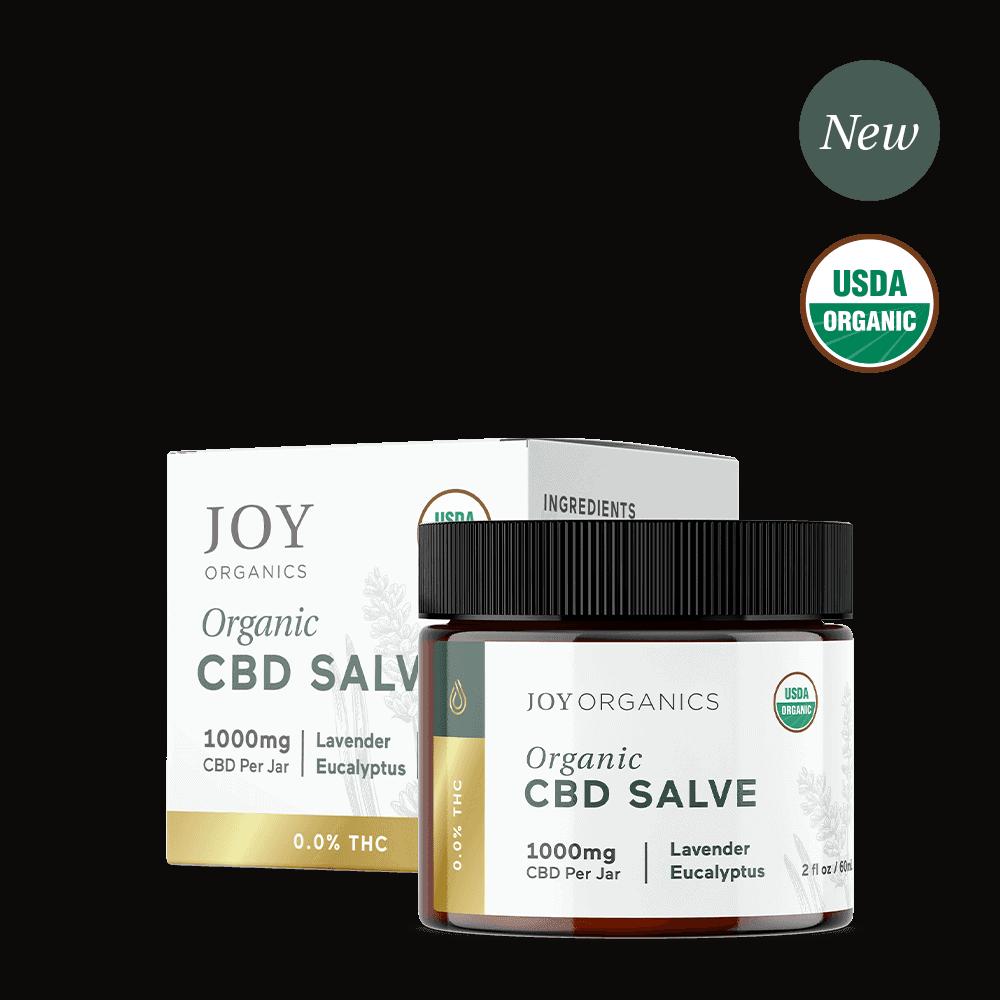 Joy Organics, Organic CBD Salve, Broad Spectrum THC-Free, 2oz, 1000mg CBD 1