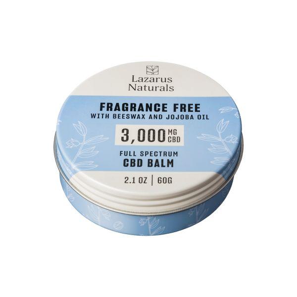 Lazarus Naturals, Fragrance Free CBD Balm, Beeswax & Jojoba, Full Spectrum, 2.1oz, 3000mg CBD 4