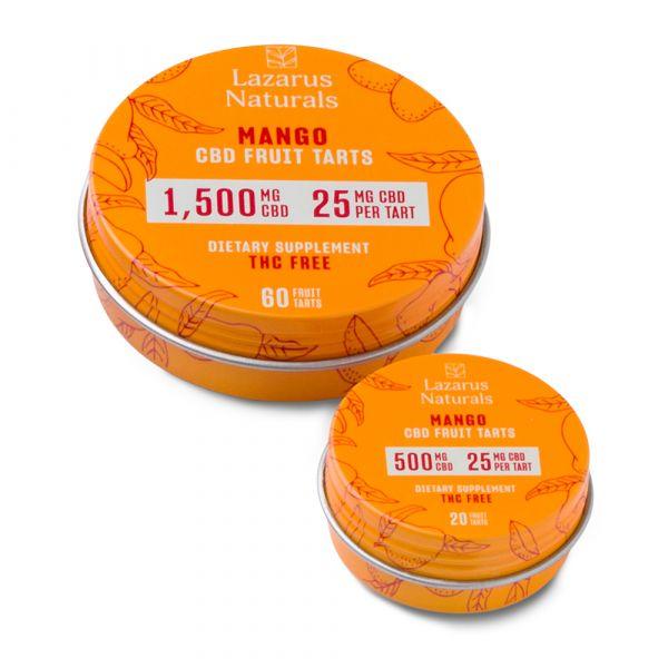 Lazarus Naturals, Mango CBD Fruit Tarts, Isolate THC-Free, 60ct, 1500mg CBD 2