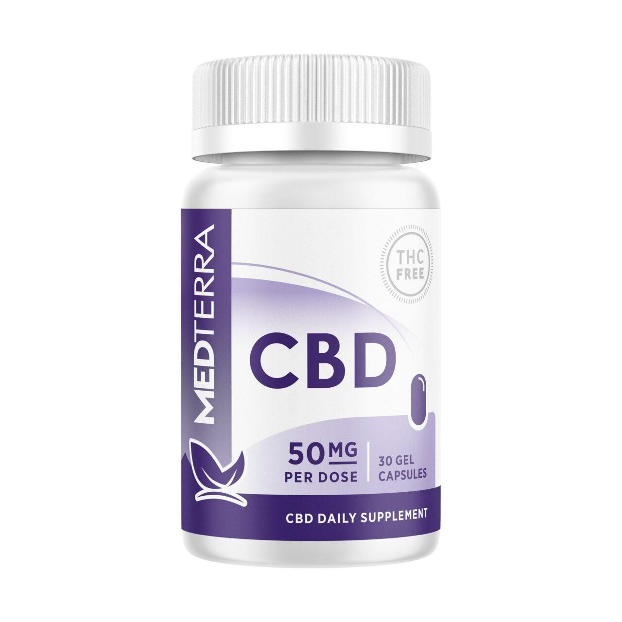 Medterra, CBD Gel Capsules, Isolate THC-Free, 30ct, 1500mg CBD 1