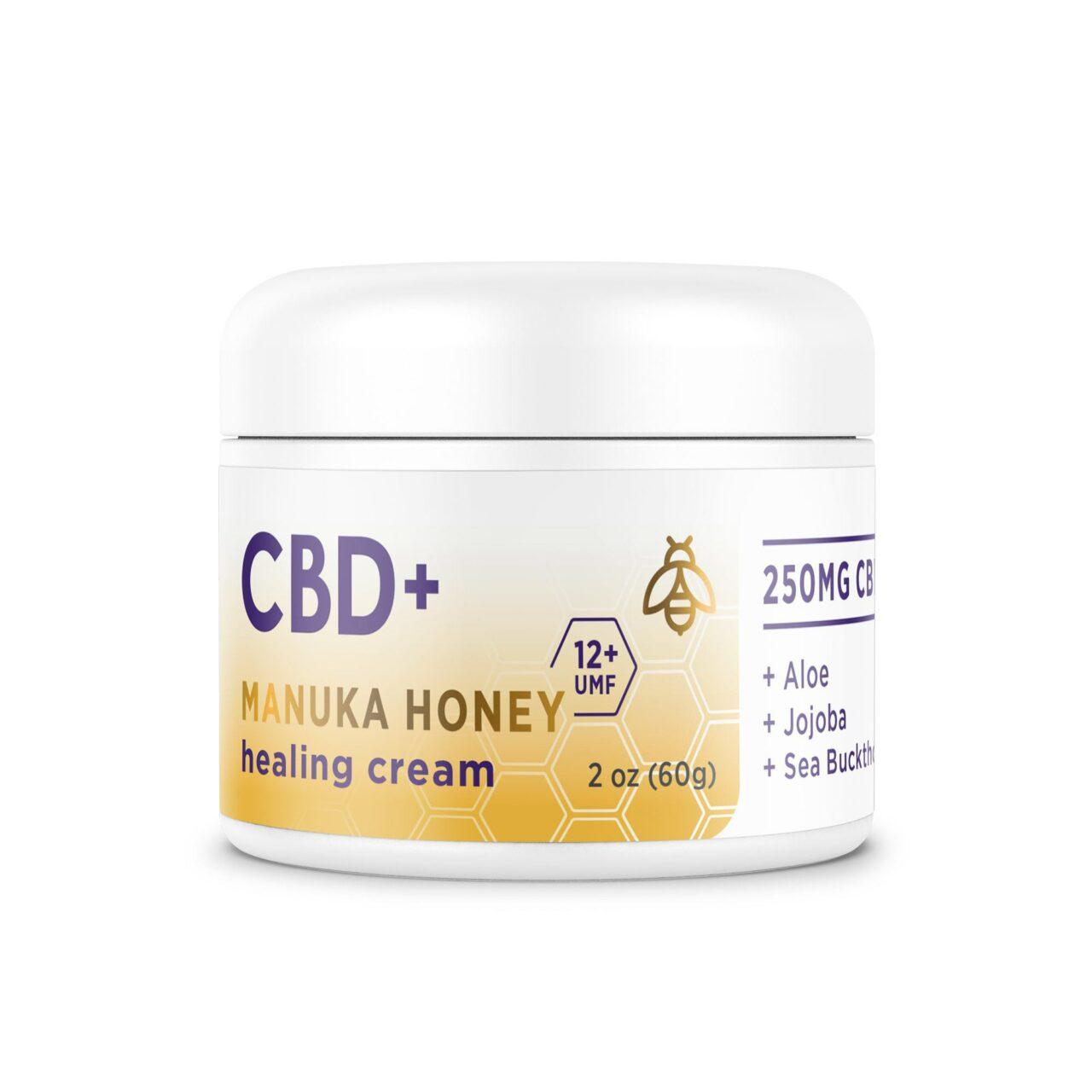 Medterra, CBD + Manuka Honey Cream, Isolate THC-Free, 2oz, 250mg CBD 1
