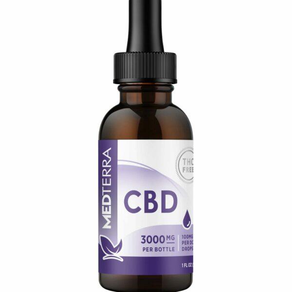 Medterra, CBD Oil, Isolate THC-Free, 1oz, 3000mg CBD